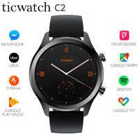 """Original Ticwatch C2 montre intelligente WIFI GPS IP68 étanche Strava Google payer usure OS par Google 1.3 """"AMOLED écran SMS rappel"""