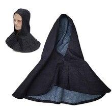 все цены на New Denim Fabric Welding Hood Flame Retardant Cap Welding Head Neck Mask Protective Hood Wear Welder Safety Cover онлайн