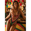 Rainbow Halter Swimwear Women 2017 One Piece Swimsuit Ladies Brazilian Biquini Ethnice Style Beach Bathing Suit