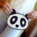 Cute panda сумка леди Женщины Дамы мультфильм медведь Элегантный ПУ Кожа Hobo Сумка Кошелек Сумка Сумочка