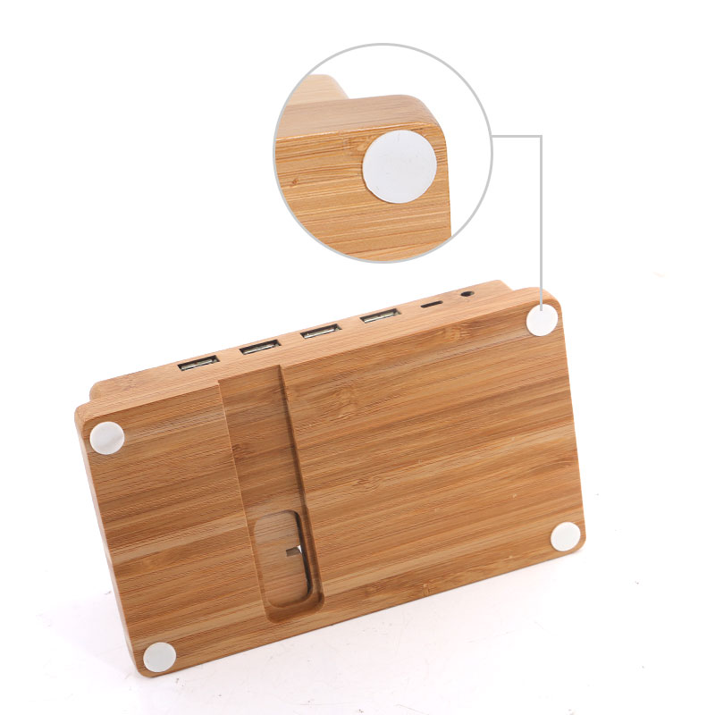 Multi function Bamboo Phone Desk Stand Holder for iPhone iPad mini