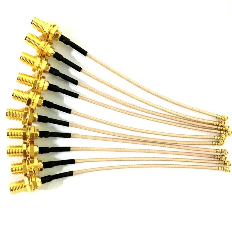 100pcs 8CM IPX U fl UFL IPEX Adapter to RP SMA Female Pin Connector RF Coax