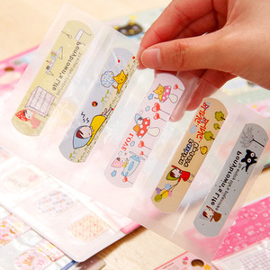 Image 1 - 25Pcs Cartoon Cute Disposable Waterproof Adhesive Bandage First Aid Breathable Medical Hemostatic StickersKids Children Adult