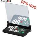 Encendedor del coche GPS brújula HUD Head Up Display con alto brillo LED espectáculo de velocidad en tiempo Real de señal GPS CARBAR