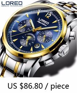 1554adb50e7 LOREO Mens Relógios Top Marca de Luxo Mergulho 200 M Relógio Mecânico  Casual Rotating Bezel Ceramic movimento Gaivota Relógio Automático