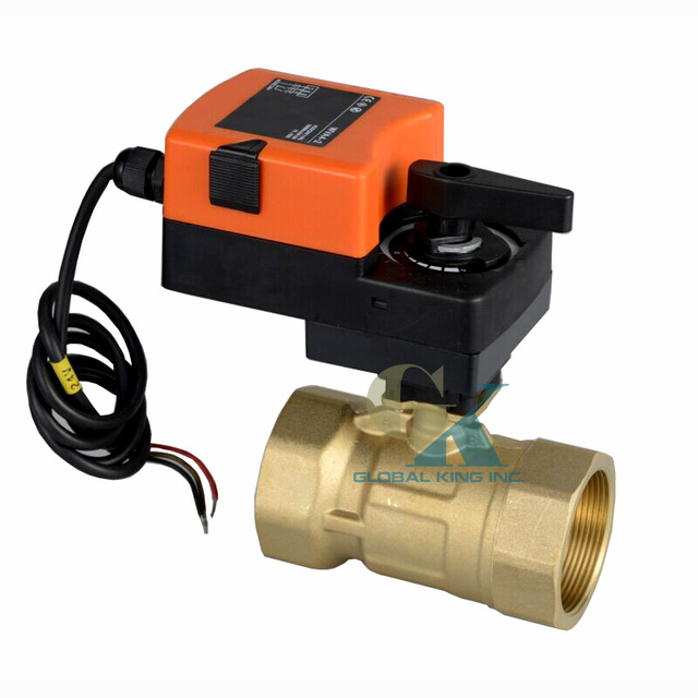 DC 24V, 1 1/4\'\' Motorized Valve DN 32MM Brass 2 Way Electric ...