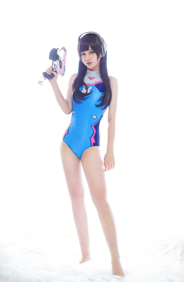 2018 جديد لعبة آه د. va تأثيري حلي مثير المرأة قطعة واحدة الشاطئ ارتداء البيكيني الزرقاء الاستحمام الدعاوى للنساء