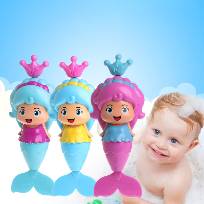 2017 Cute Baby Cute Mermaid Clockwork Dabbling Bath Toy Classic Swimming Water Wind Up Toy  APR29_17