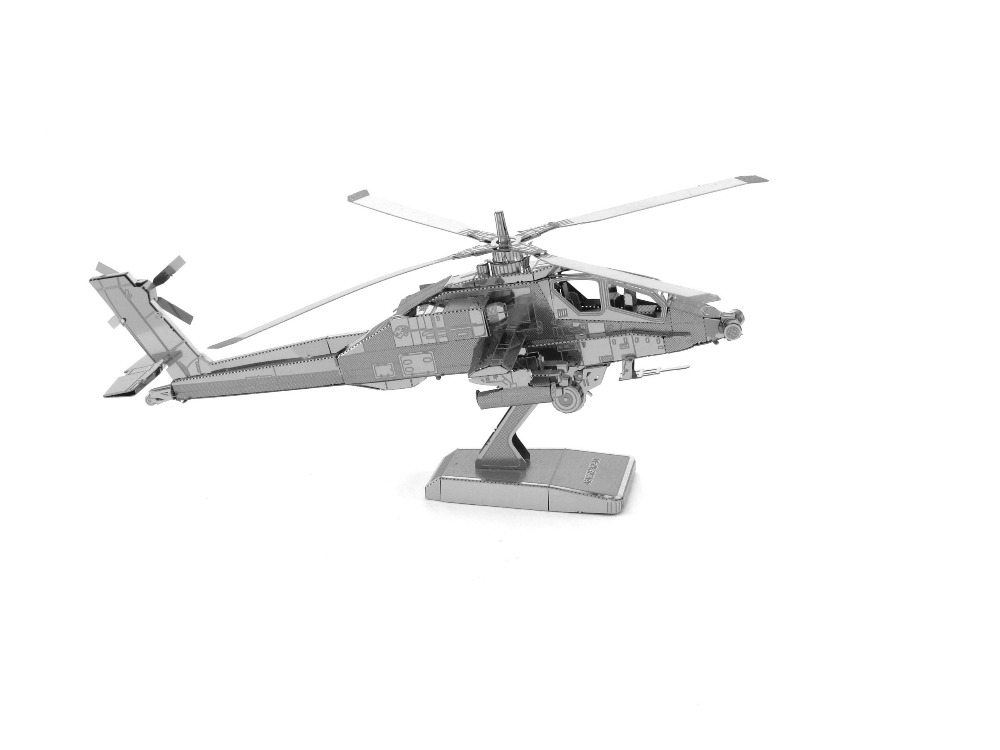 3D Metal Apache AH 64 Puzzles first order snowmobiles Toys 3D Metal Model NANO Puzzles New Styles Chinses Metal Earth