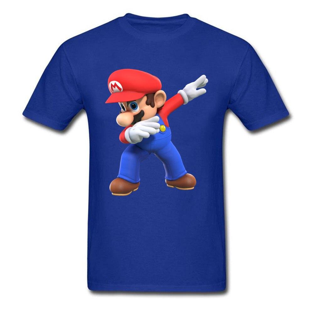 2018 Men T Shirts Round Neck Short Sleeve 100% Cotton super mario bros825yy T Shirt Printed On Top T-shirts Wholesale super mario bros825yy blue