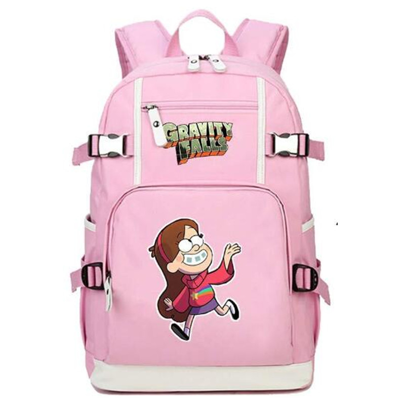 Gravity Falls Mabel Pines Pink Backpack Knapsack Rackpack Travel School Bag Cute