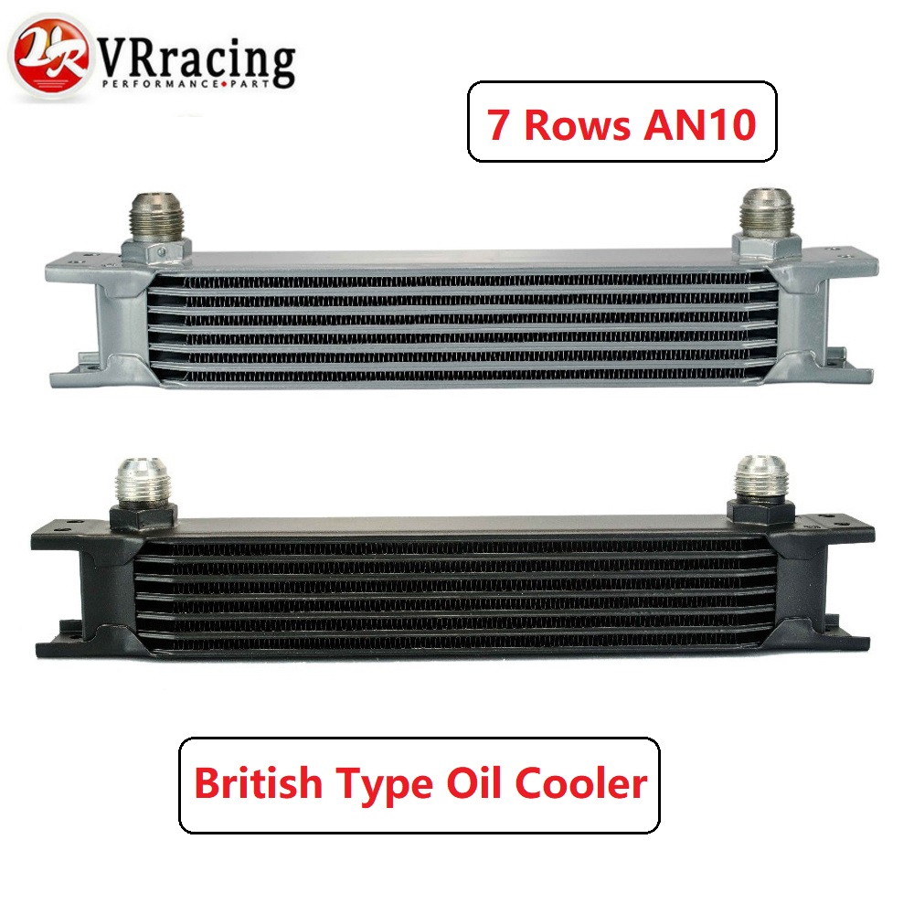 VR RACING - British type Aluminum 7 rows Universal Engine transmission oil cooler AN10 7 rows Silver OR BLACK VR7007VR RACING - British type Aluminum 7 rows Universal Engine transmission oil cooler AN10 7 rows Silver OR BLACK VR7007