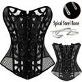Nova Moda traje burlesque Cintura Corset Overbust Espartilhos e Corpetes Top Gothic Plus Size Shaper Do Corpo