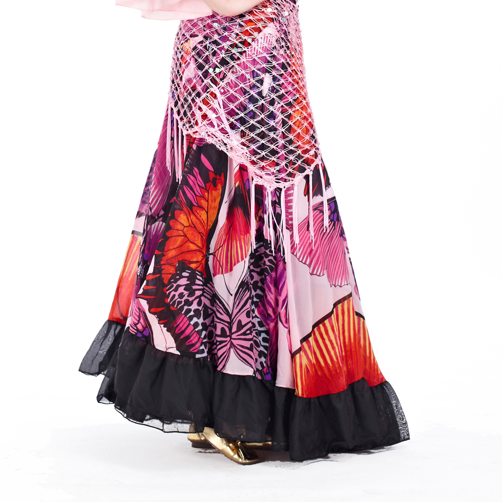 Image 5 - 2018 Newest Top grade gypsy belly dance skirt for women big flowers 2 3 m big skirt 720 degrees-in Belly Dancing from Novelty & Special Use