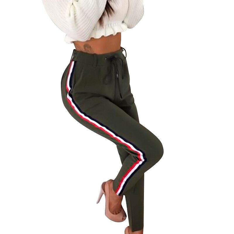 Autumn New Pants Women High Waist Trousers Women Bandage Sweatpants Trousers Female Pantalon Mujer Hot Sale