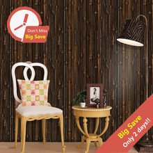 3D Bamboo Imitation Wall Stickers Vintage Decor For Cafe Bar Self Adhesive Wall Panels Corridor Study Seamless Tile Decal Mural(China)