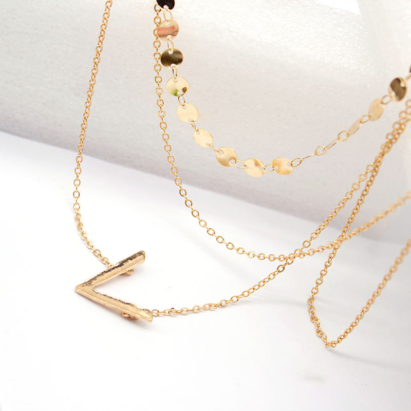 New Fashion Long Tassel Pendant Chain Necklace Statement Sequins Geometric Clavicle Choker Necklaces for Women in Pendant Necklaces from Jewelry Accessories