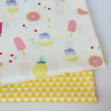 Fruit Print Cotton Fabric Textile Cotton DIY Sewing Quilted Baby Cloth Thin Cotton Fabric Sold Separately Per Meter Material