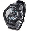 Dropship Deportes de Los Hombres Relojes de Marca de Lujo LED Digital Electronic Reloj 5ATM Impermeable Al Aire Libre de Los Hombres de Pulsera Relojes Deportivos