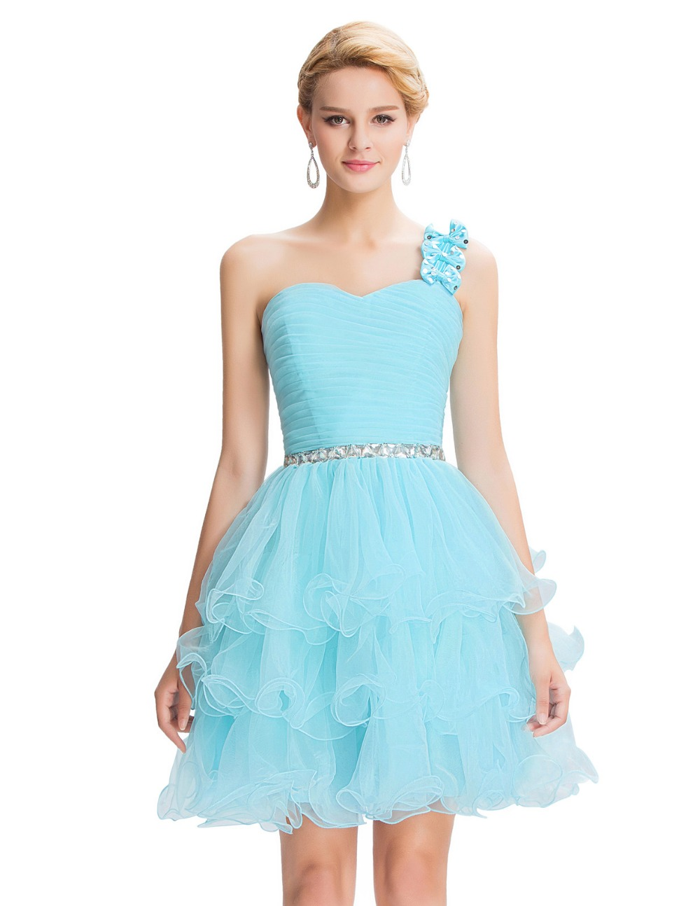Aliexpress.com : Buy Sparkly Beaded Prom Dress Pink Blue Purple ...