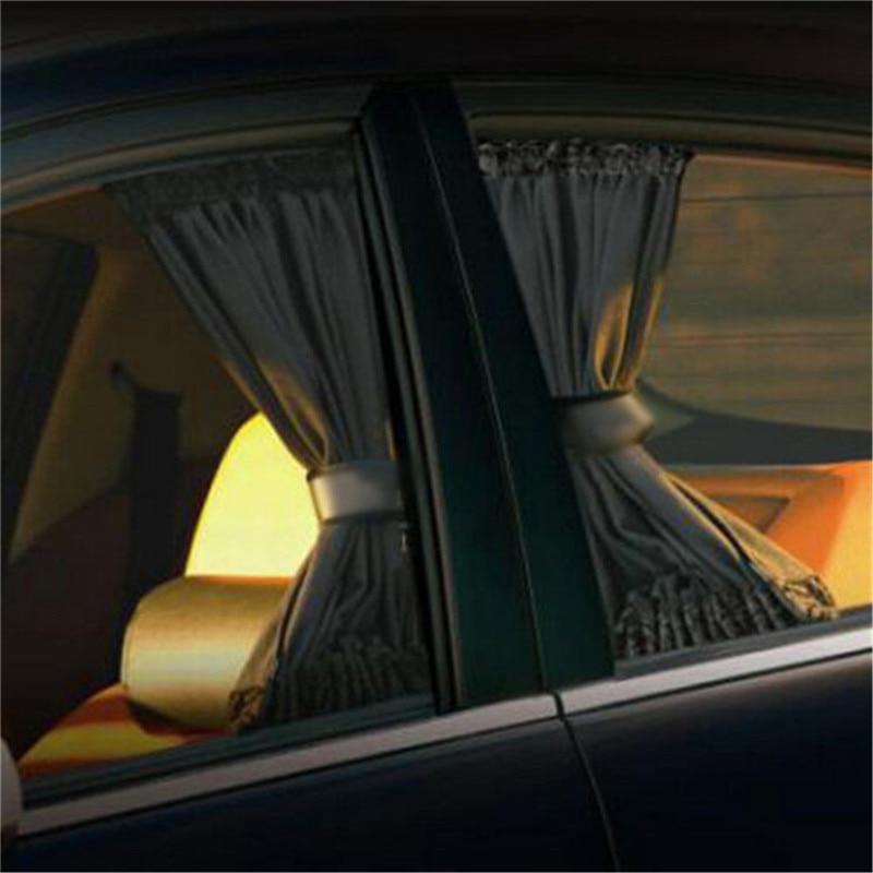70x49cm Universal Black Foldable Sunshade Window Curtain Side Mesh Car Sun Shade Anti-UV Protect Adjustable Car Accessorie