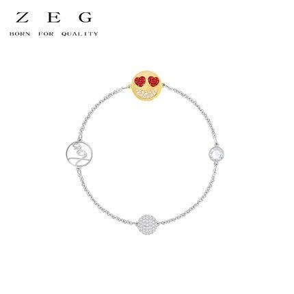 ZEG высокое качество 2018 последние SWARO оригинальный 1:1 REMIX свой стиль красочные выражения браслет имеет логотип Для женщин Jewelry Бесплатная Дост...