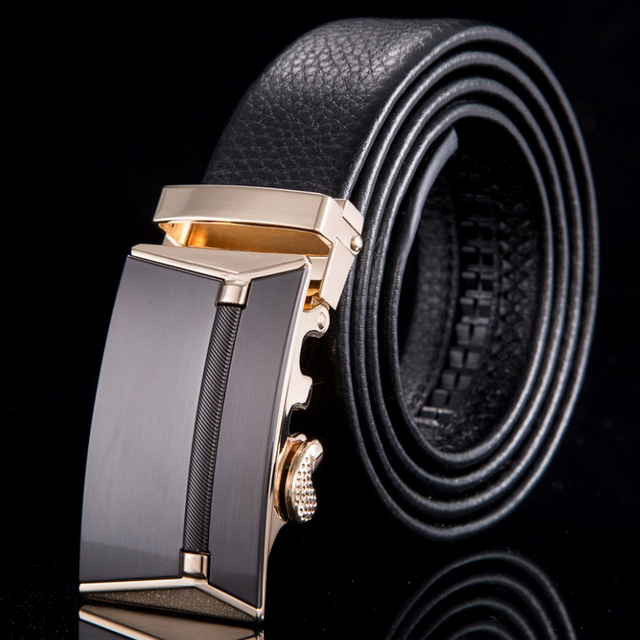 2015 Genuine leather men belt brand luxury automatic buckle cinto masculino strap male fashion belts for men WN017