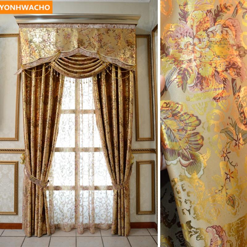 Custom Curtains Upscale European Luxury Gilding Living