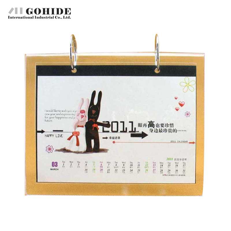 gohide double faced calendar frame 13 pp bags crystal calendar frame transparent rectangle shape plastic picture