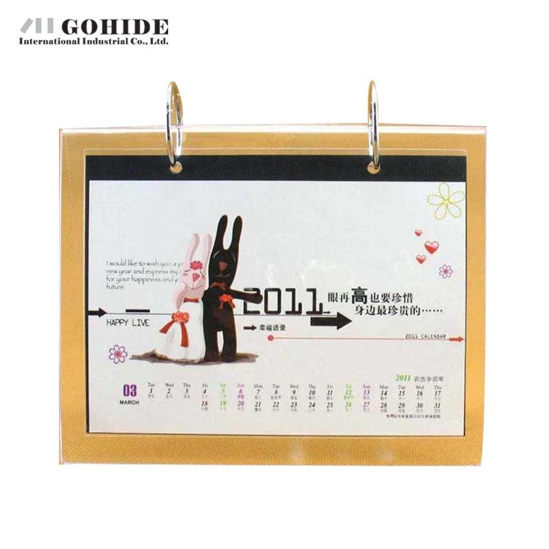 gohide double faced calendar frame 13 pp bags crystal calendar frame transparent rectangle shape plastic picture