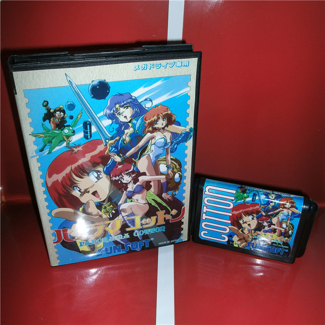 Panorama Cotton Japan Cover with box (no manual) For Sega Megadrive Genesis Video Game Console 16 bit MD card