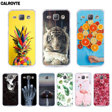 TPU Case For Samsung Galaxy J1 2016 Soft Silicone Case For Samsung Galaxy J1 2016 Case For Samsung J1 2016 J120F SM-J120f Cover(China)