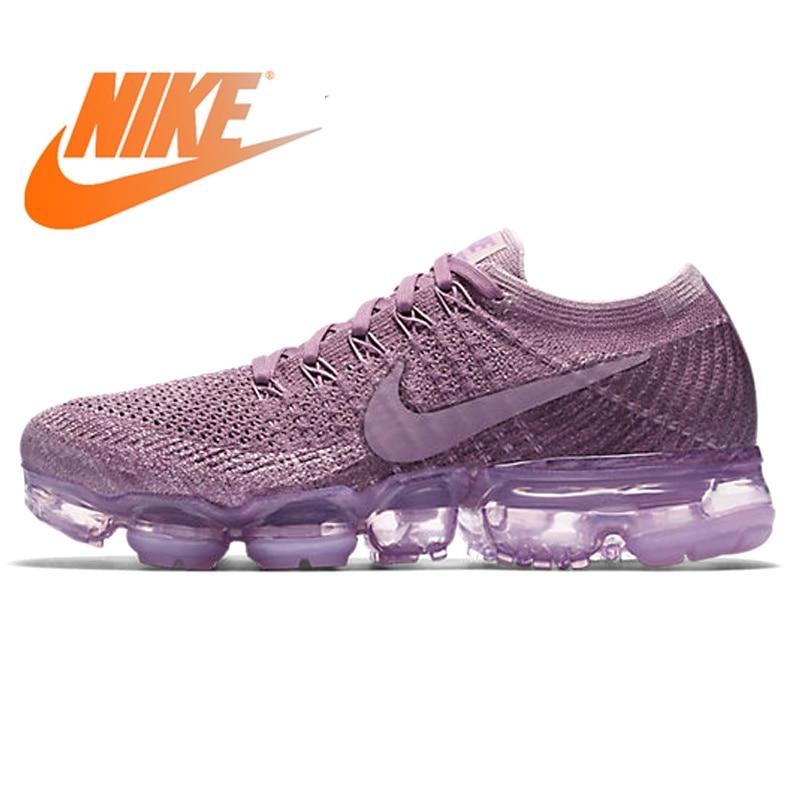 Chaussures de course respirantes originales Nike Air VaporMax Flyknit pour femmes chaussures de sport de plein Air de bonne qualité 849557-500