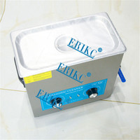 ERIKC Common Rail Fuel Injector Cleaning System Tool E1024015 and Auto Cleaning Equipment Ultrasonic Cleaner 110V, 6L