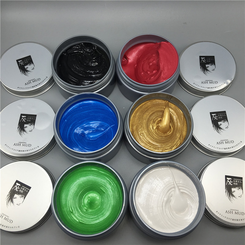120g Unisex Χρώμα μαλλιών Wax Λάσπη Μαλλιά - Περιποίηση και στυλ μαλλιών - Φωτογραφία 3