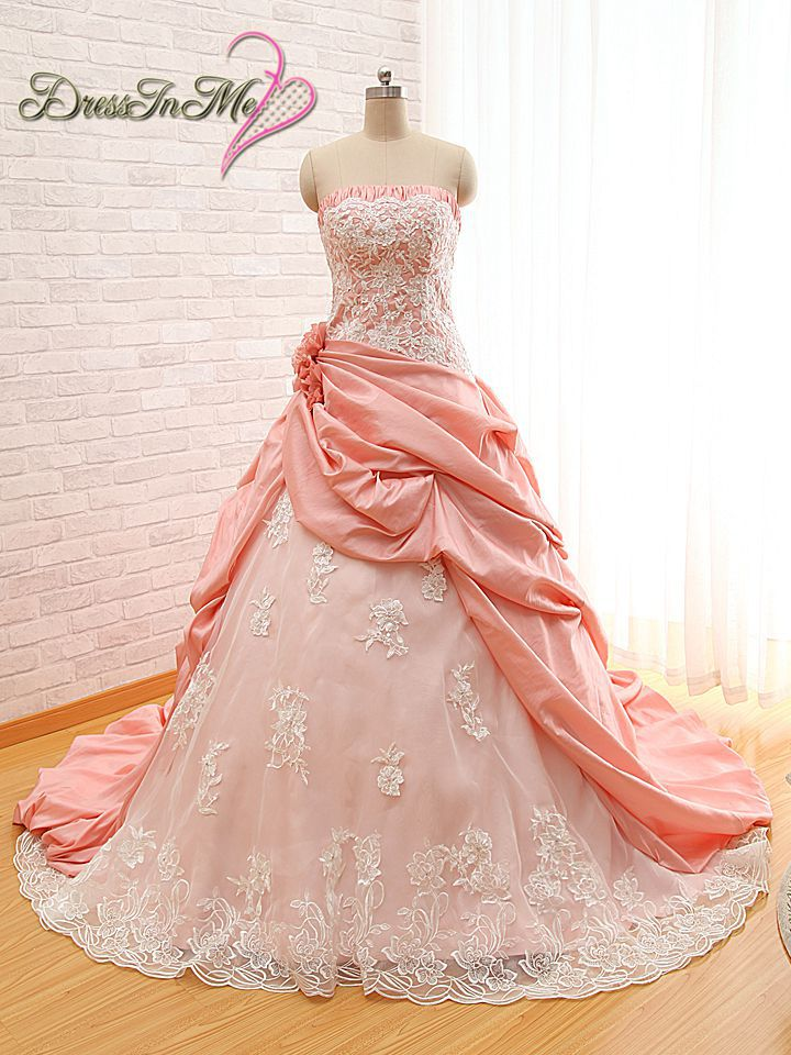 Online buy wholesale rose bridal gowns from china rose for Wedding dresses with roses on them