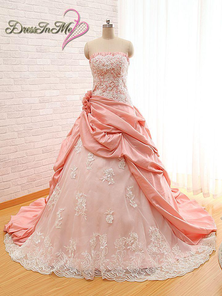 Popular Rose Pink Wedding Dresses-Buy Cheap Rose Pink Wedding ...