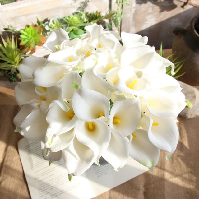 365mm pu calla artificial flower real touch white fake flowers 365mm pu calla artificial flower real touch white fake flowers friendship and wedding decoration forever love junglespirit Gallery