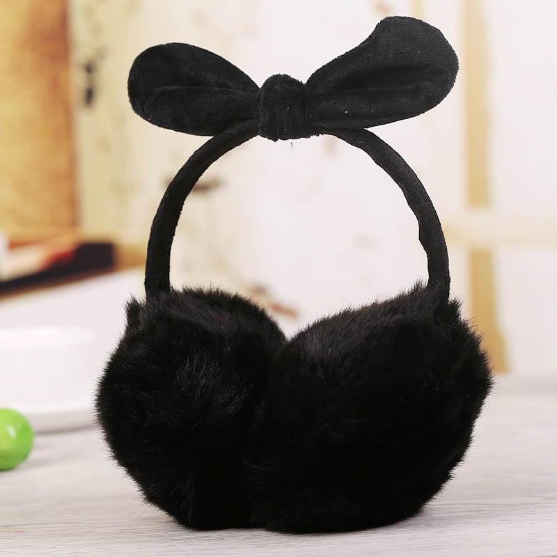 Newly Ladies Girls Earmuffs Cute Bowknot Furry Ear Muffs Comfy Soft Outdoor Winter DO99