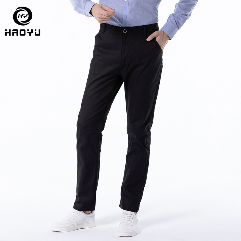 Mens Pants New Quick Drying 2019 Arrival Autumn Winter Men Brand Clothing Casual Cotton Slim Fit MaleTrousers Regular