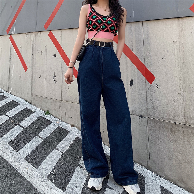 Summer Autumn High Waist Wide Leg   Jeans   Loose Denim Pants 2019 Long   Jeans   for Women Femme Wide Pants