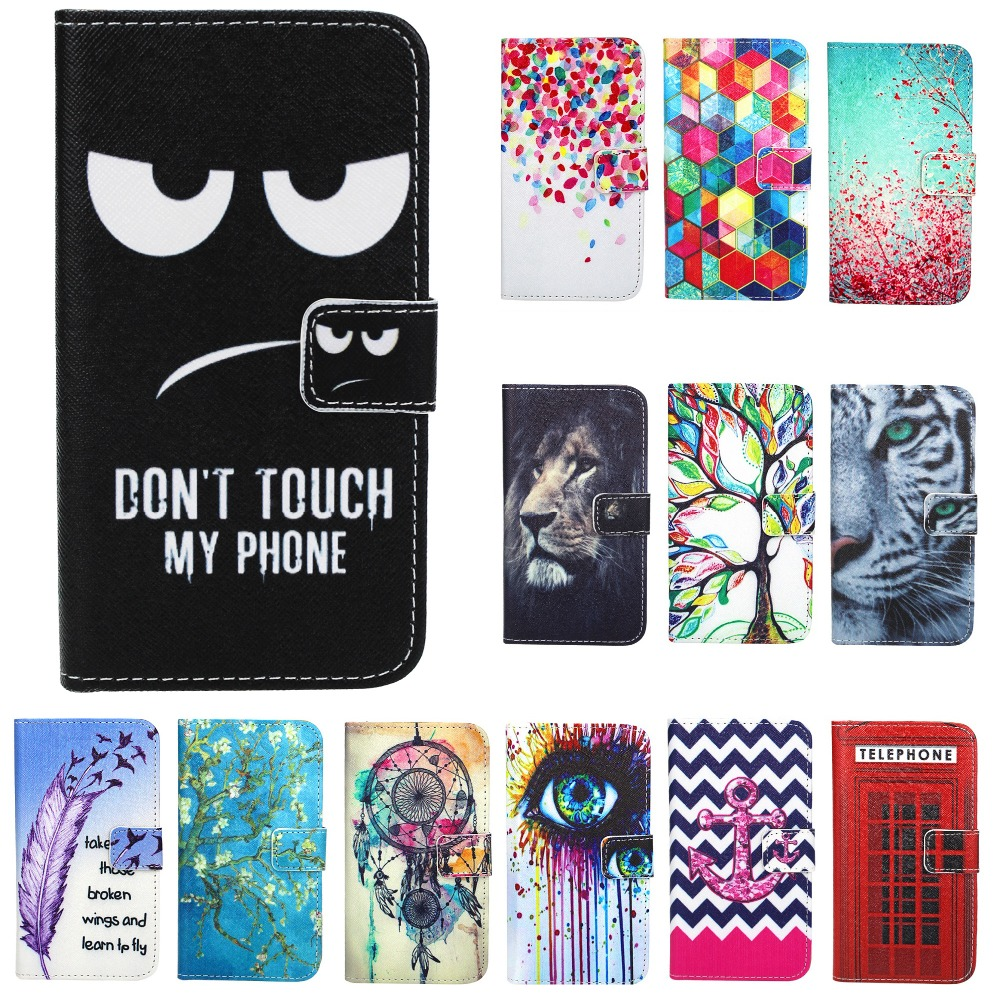Cover For Coque-Case Wiko Sunny Kickstand 3 Wallet-Pattern