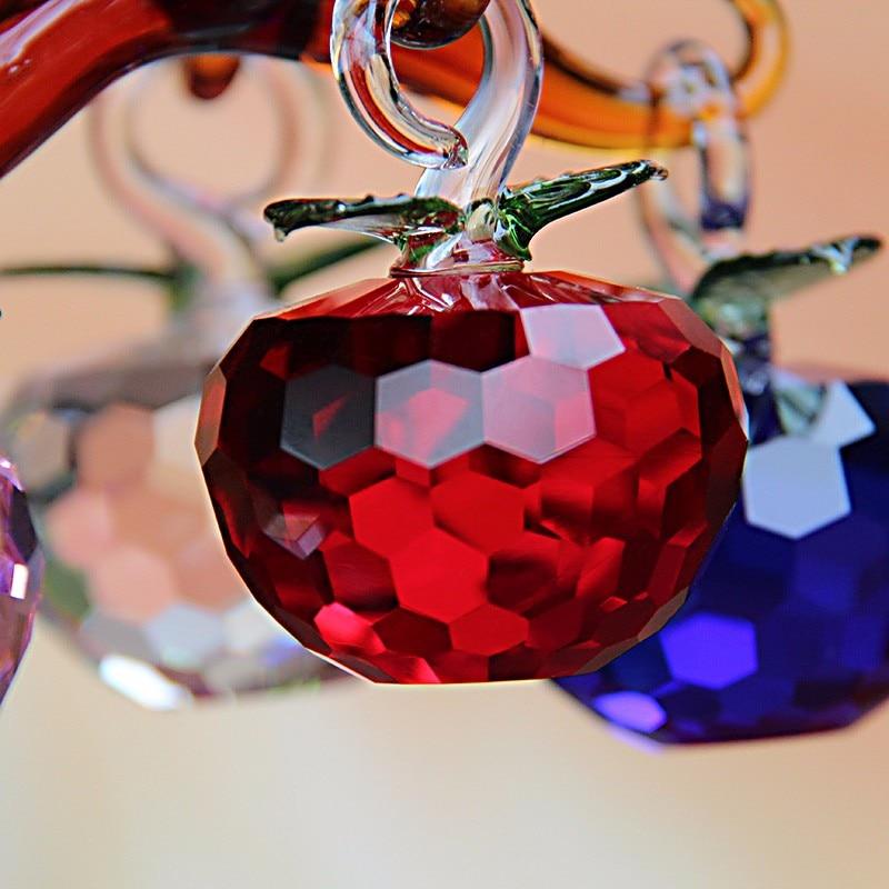 40 мм Новый год рождественской елки висит хрусталя Стекло Apple Украшения искусственные ремесло Navidad Шторы дома натальные декор дома