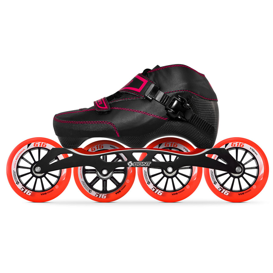 100 Original Bont Enduro 3PT Speed Inline Skates Heatmoldable Carbon Fiber Boot S frame7 G16 100