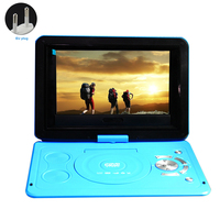 USB Swivel Screen Home Mini Outdoor 13.9inch Rechargeable Battery HD LCD TV Game Car DVD Player CD Portable