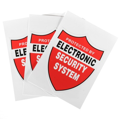 NEW 3 Pcs SECURITY SYSTEM DECALS Sticker Decal Video Warning CCTV Camera Home Alarm Security Karachi