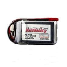 Высокое качество для Бесконечность 550 мАч 70C 3 s 11.1 В lipo Батарея 18 силиконовая линия JST разъем RC Батарея для FPV-системы Racing Drone