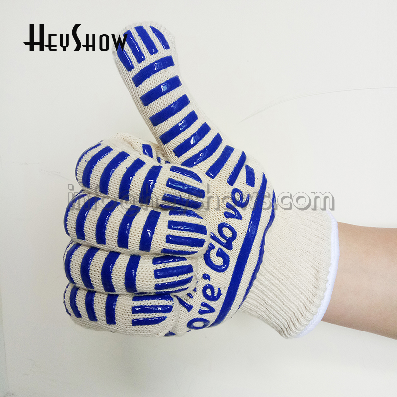 10x 662F Oven Glove Heat-resistant Gloves BBQ Anti fire Mitt Heat Proof Resistant Cooking Kitchen Mitten Prevent Hand From Heat fire insulation safety gloves heat resistant glove aramid bbq glove oven kitchen glove direct supply forearm protection