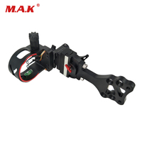 High end 4 Pins Bow Sight Fine tuning with Spirit Level can Adjust for Compound Bow Archery Hunting Shooting
