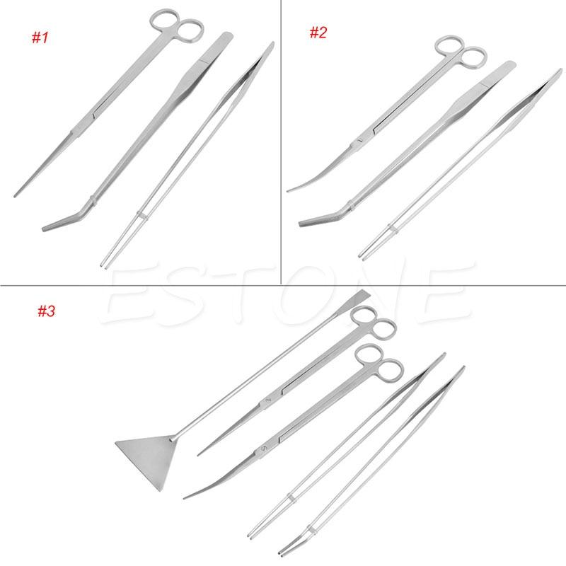 3/5pcs Aquarium Maintenance Tools Kit Tweezers Scissors For Live Plants Grass 5